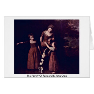 The Family Of Farmers By John Opie Greeting Card