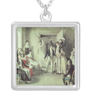 The family of Franz Peter Schubert  playing games Silver Plated Necklace