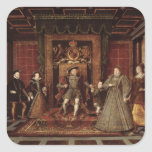 The Family of Henry VIII: Square Sticker