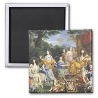 The Family of Louis XIV  1670 2 2 Inch Square Magnet