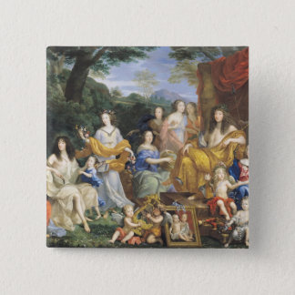 The Family of Louis XIV  1670 2 Pinback Button