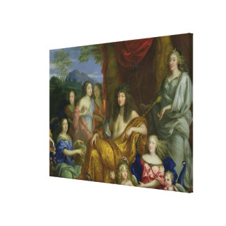 The Family of Louis XIV  1670 Gallery Wrapped Canvas