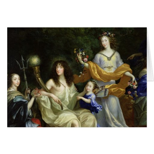 The Family of Louis XIV  1670 Cards