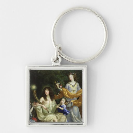 The Family of Louis XIV  1670 Keychain