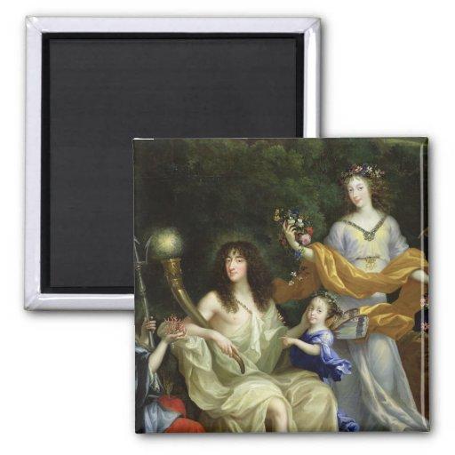 The Family of Louis XIV  1670 Fridge Magnets