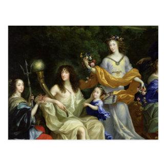 The Family of Louis XIV  1670 Postcard