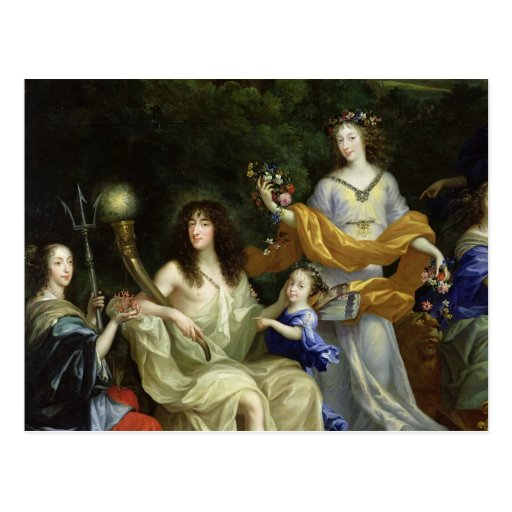 The Family of Louis XIV  1670 Post Cards