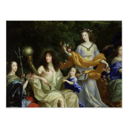 The Family of Louis XIV  1670 Poster