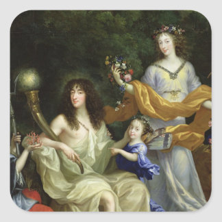 The Family of Louis XIV  1670 Square Sticker