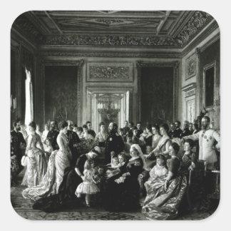 The Family of Queen Victoria, 1887 Square Sticker