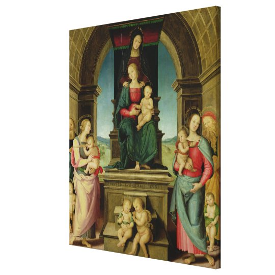 The Family of St. Anne, c.1507 Canvas Print