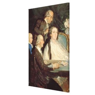 The Family of the Infante Don Luis de Borbon 2 Canvas Print
