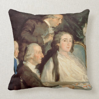 The Family of the Infante Don Luis de Borbon 2 Throw Pillows