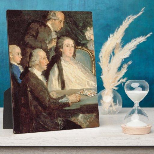 The Family of the Infante Don Luis de Borbon 2 Plaques