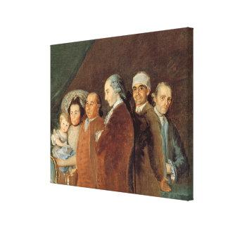 The Family of the Infante Don Luis de Borbon Canvas Print