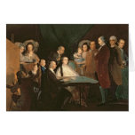 The Family of the Infante Don Luis de Borbon Greeting Card