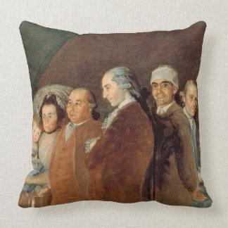 The Family of the Infante Don Luis de Borbon Throw Pillow