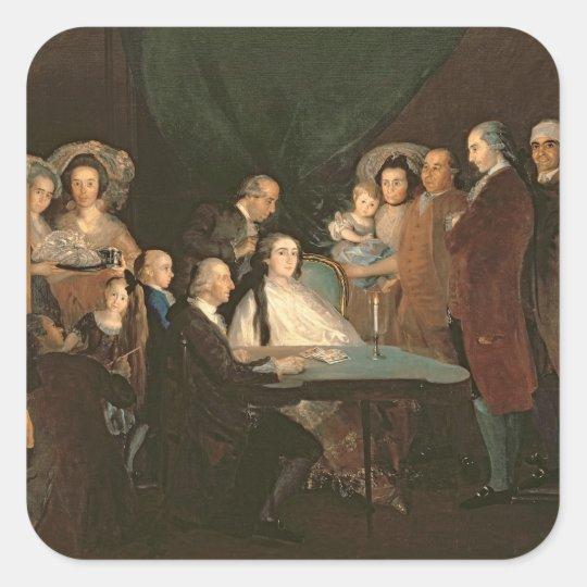 The Family of the Infante Don Luis de Borbon Square Sticker