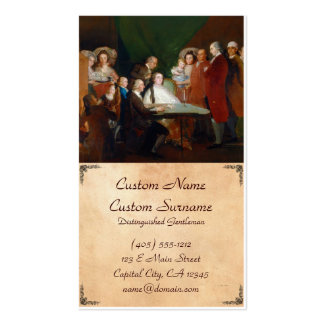 The Family of the Infante Don Luis Francisco Goya Business Card