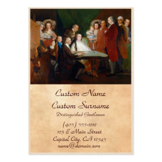 The Family of the Infante Don Luis Francisco Goya Large Business Card