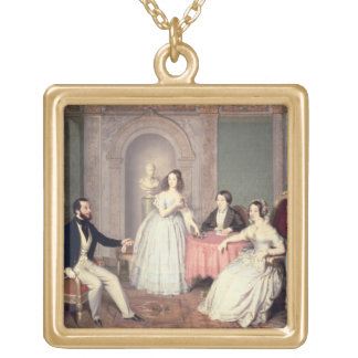 The Family of the Marquis Giuseppe Sigismondo Ala Gold Plated Necklace