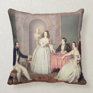 The Family of the Marquis Giuseppe Sigismondo Ala Throw Pillow