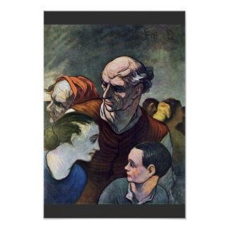 The Family On The Barricade,  By Daumier Honoré (B Print