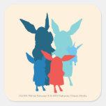 The Family - Silhouette Square Sticker