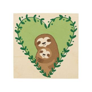 The Family Sloth Wood Wall Decor