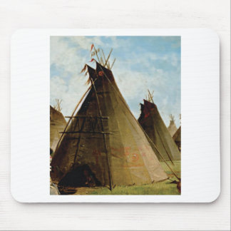 the family tepee mouse pad