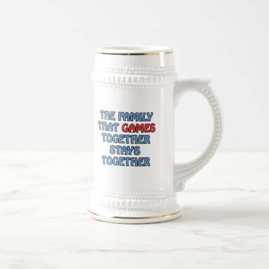 The Family That Games Together Beer Stein