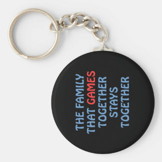 The Family That Games Together Keychain
