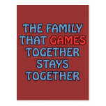The Family That Games Together Post Card
