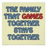 The Family That Games Together Poster