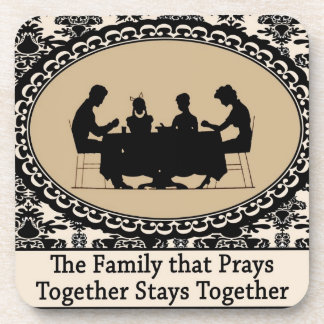 The Family that Prays Together Cork Coaster