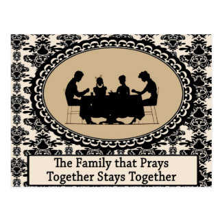 The Family that Prays Together Postcard
