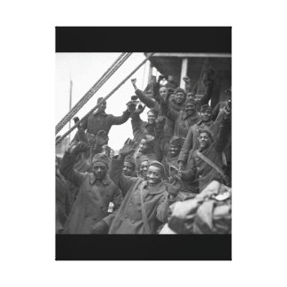 The famous 369th arrive in N.Y. City_War Image Canvas Print