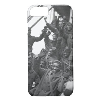 The famous 369th arrive in N.Y. City_War Image iPhone 7 Case
