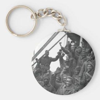 The famous 369th arrive in N.Y. City_War Image Keychain