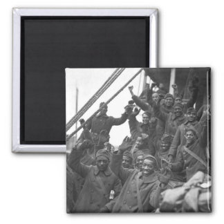 The famous 369th arrive in N.Y. City_War Image Magnet