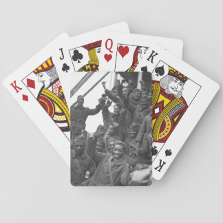 The famous 369th arrive in N.Y. City_War Image Playing Cards