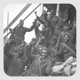 The famous 369th arrive in N.Y. City_War Image Square Sticker