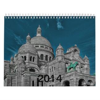 The famous basilicas Sacré Cœur in Paris Calendar