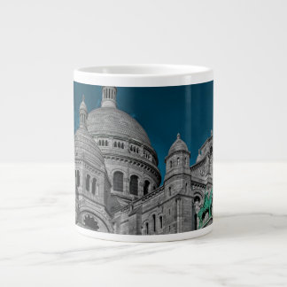 The famous basilicas Sacré Cœur in Paris Jumbo Mugs