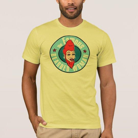 The famous bearded woman design men's t-shirt