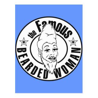 The Famous Bearded Women Postcard