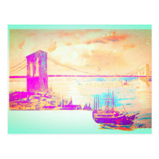 The Famous Brooklyn Bridge Postcard