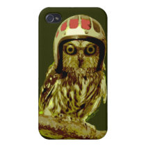 The Famous Custom Motorcycle Owl Cover For iPhone 4
