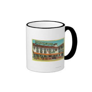 The Famous Fisherman's Grotto Bldg Ringer Coffee Mug