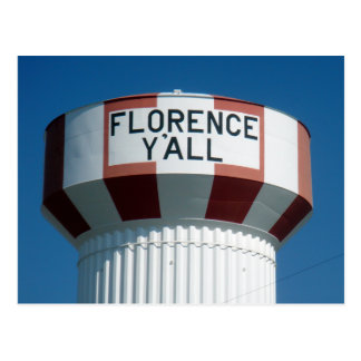 The Famous Florence Y'all Water Tower Postcard